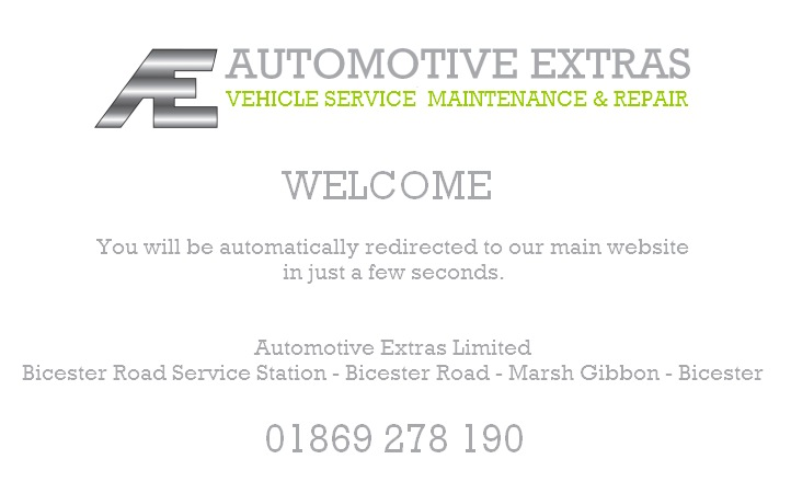 Automotive Extras to Garages in Bicester redirect page
