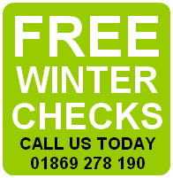 Garages in Bicester Free Winter Check Banner
